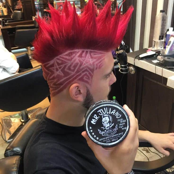 Punk Mohawk 80s hairstyle for men