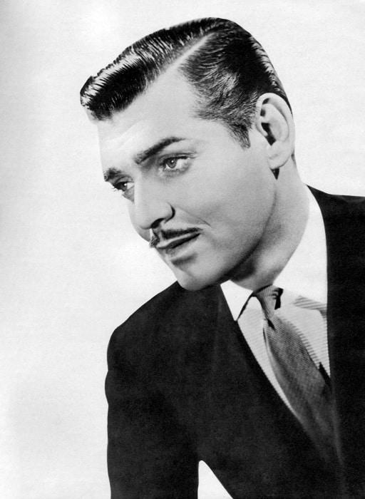 Clark Gable hairstyle.