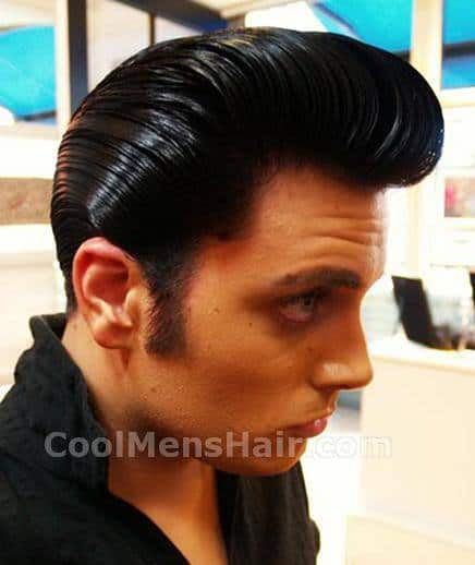 Picture of 50s greaser hair.