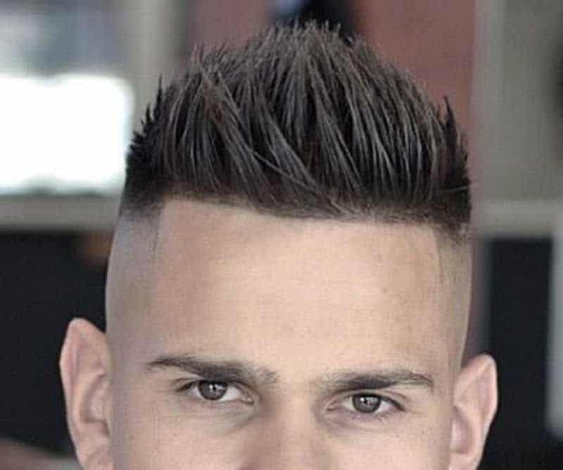 taper fade with short Faux Hawk