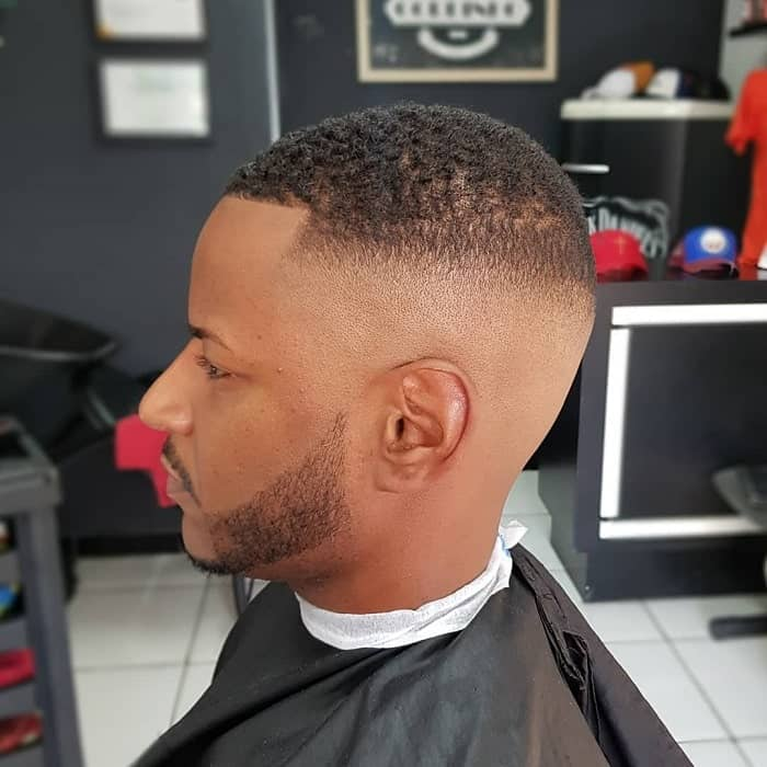 Curly High Fade