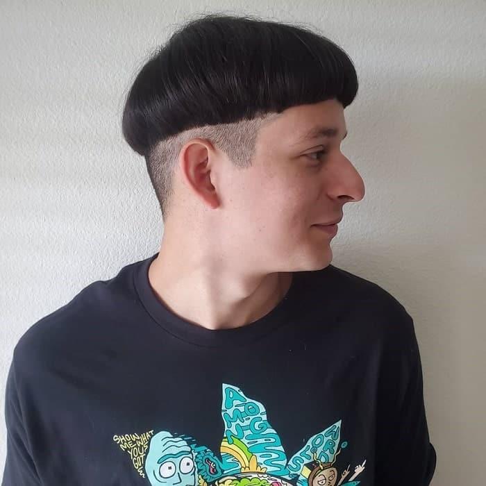 Mushroom Haircut with Undercut