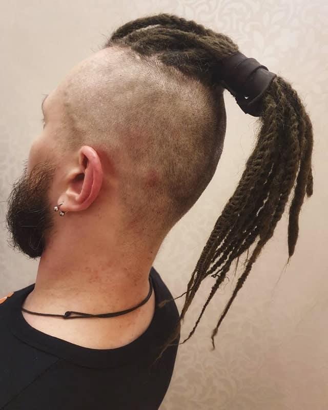 Viking Style Ponytail for Men
