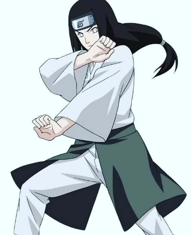 anime boy Neji Hyuuga with long hair
