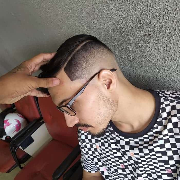 Skin Faded Part Hairstyle