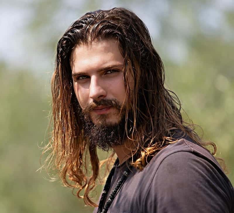 Thick Long Hair with Beard