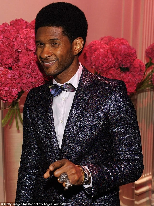 Usher with his Fab 'Fro haircut