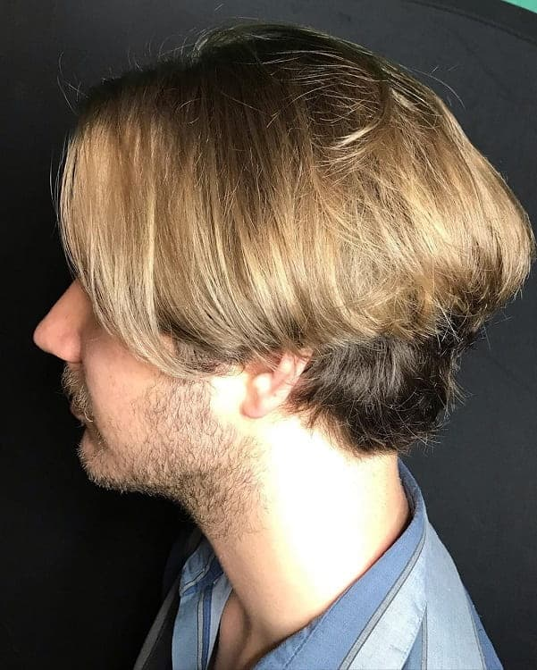 Blonde Mushroom Haircut