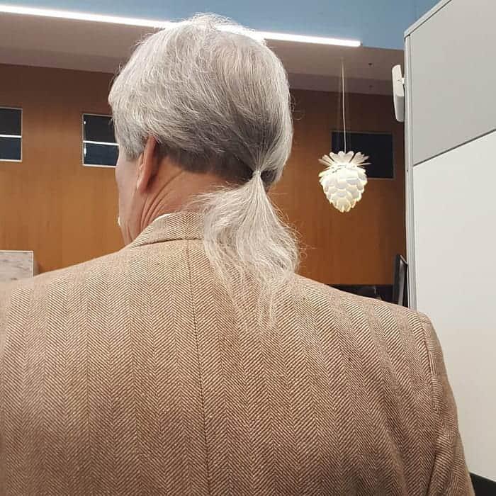 Ponytail for Older Men
