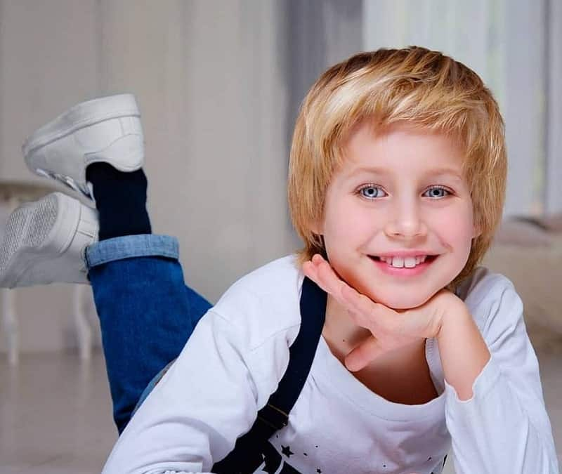 boy's strawberry blonde hair