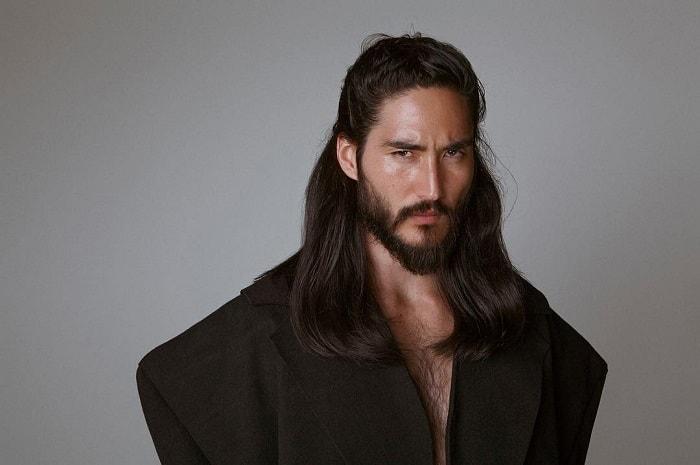 Long Hair with Asian Beard
