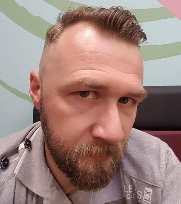 Skin Fade Haircut with Beard