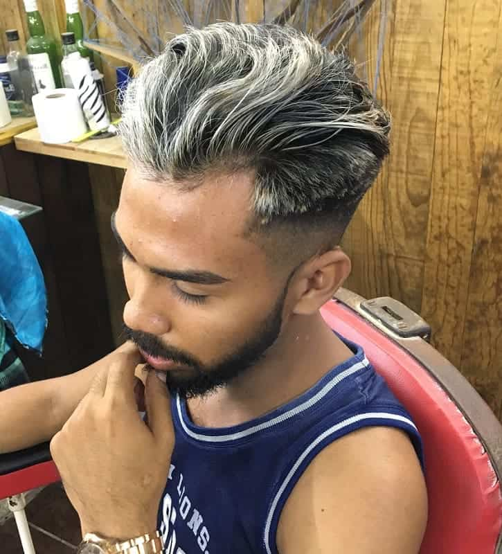 Ash Blonde Highlights for Men