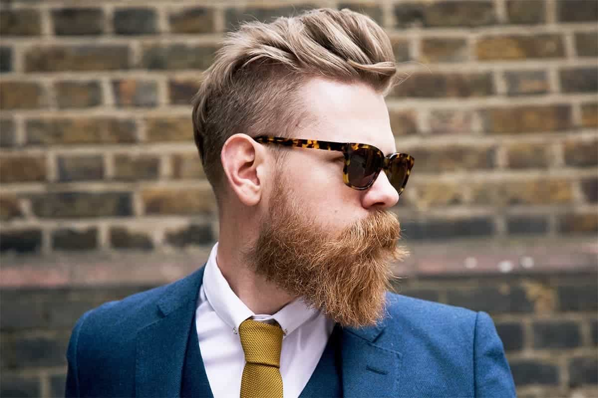 beard with 80s Hairstyle for men