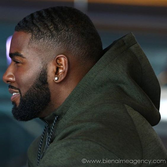 curly Buzz hairstyle for black men