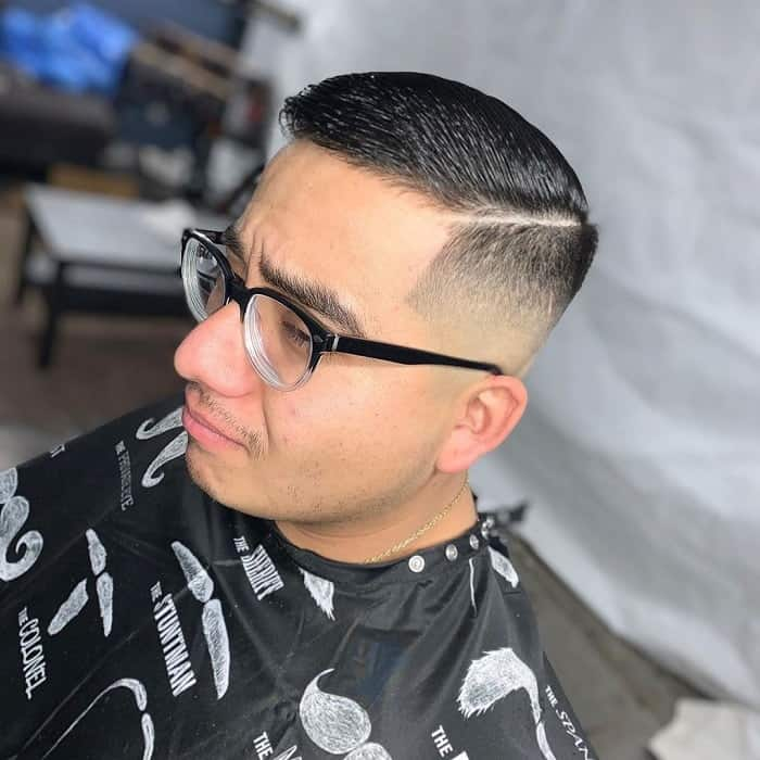 Parted Fade Haircut