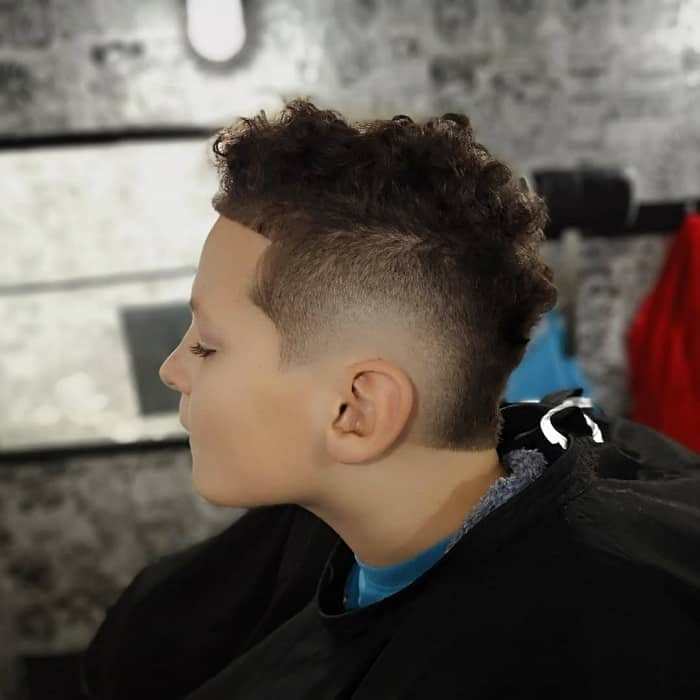 Burst Fade on Boy's Hair
