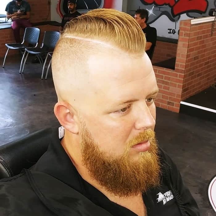 Mohawk Fade with Part
