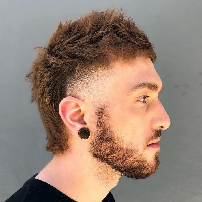 Short Mullet with Fade