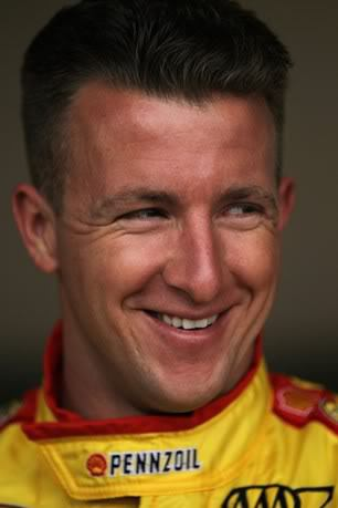 Picture of AJ Allmendinger short pompadour hairstyle.