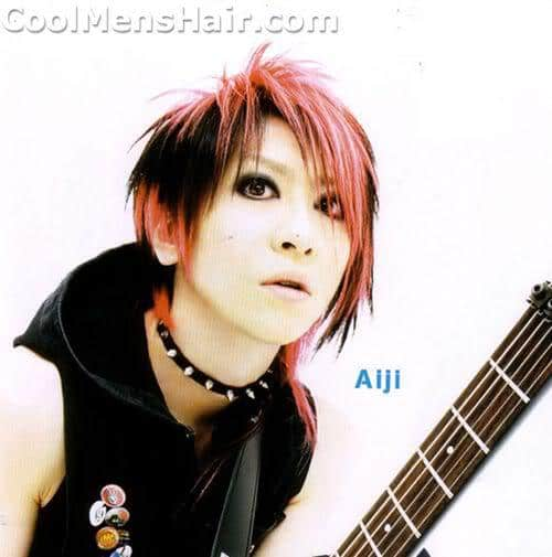 Picture of Aiji hairstyle for Asian men.