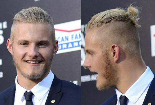 Alexander Ludwig Undercut Ponytail Hairstyle Cool Men S Hair