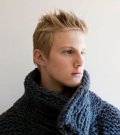 Photo of Alexander Ludwig spiky hairstyle.