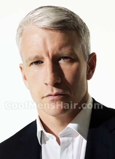 Photo of Anderson Cooper ivy league haircut.