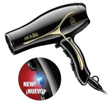 Image of Andis 75370 Tourmaline Ionic/Ceramic 1875 Watt Hair Dryer.