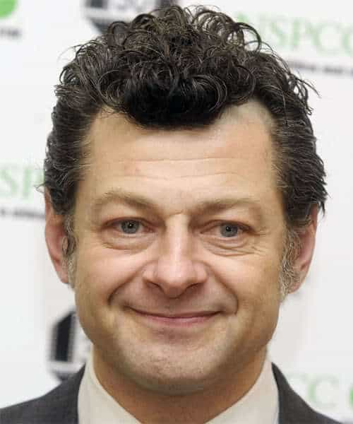 Picture of Andy Serkis curly hairstyle.