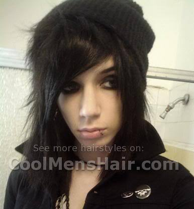 Photo of Andy Six emo layered hairstyle for boys.