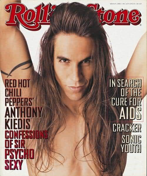 Picture of Anthony Kiedis long hair for men.