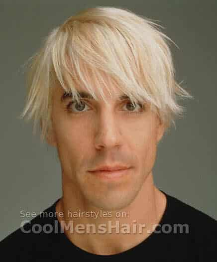 Anthony Kiedis blonde hairstyle.