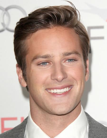 Photo of Armie Hammer hairstyle.