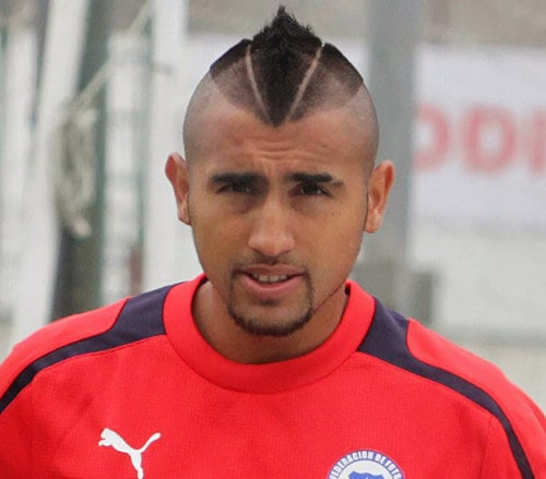 Arturo Vidal Mohawk Haircut Cool Mens Hair