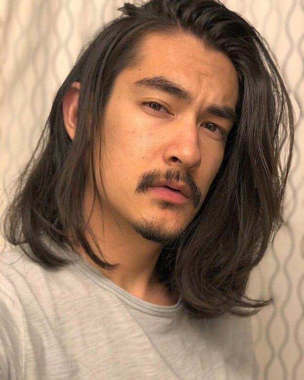 long hairstyle for Asian men