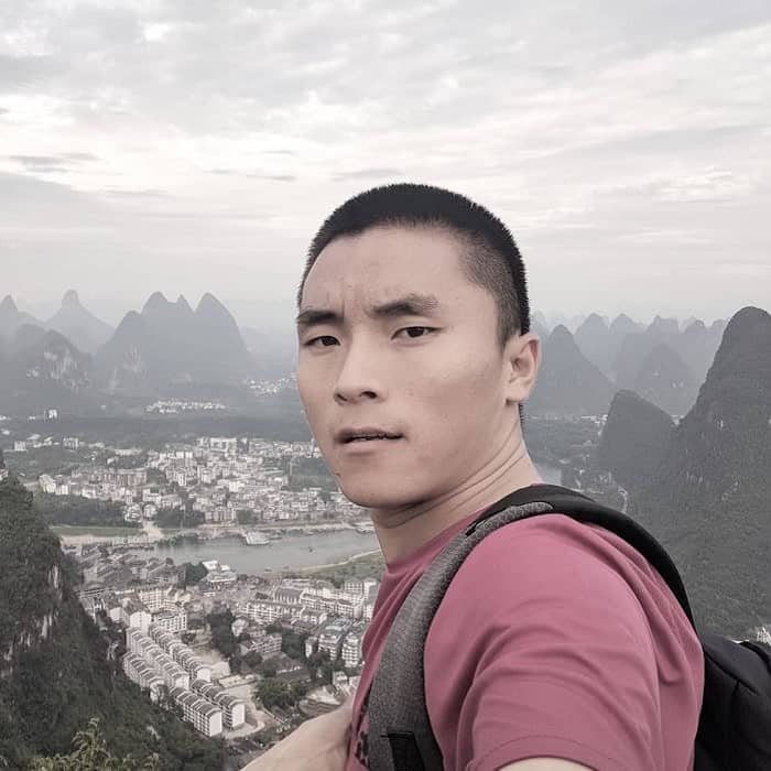 faded crew cut hairstyles for Asian men