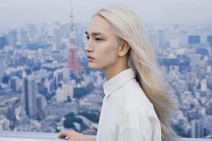 Asian men with long hair