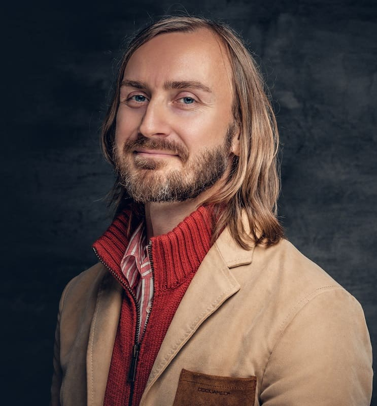 Balding Long Hair with Side Part for Men