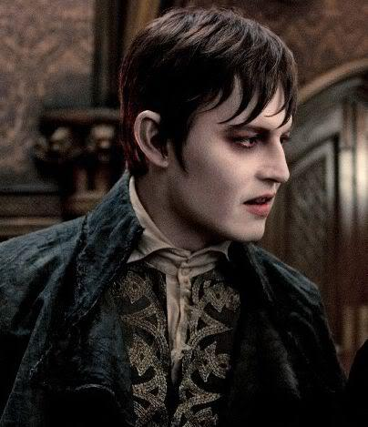 Image of the side view of Barnabas Collins hair.