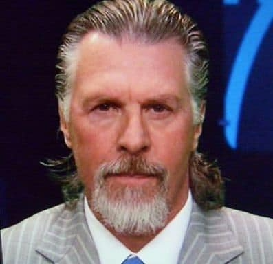 Picture of Barry Melrose slicked-back smullet hairstyle.