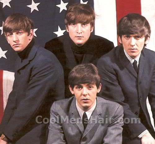 The Beatles iconic hairstyles for men.