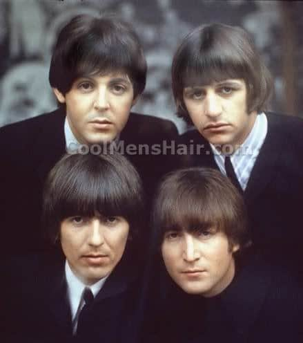 The Beatles hairstyle photos.