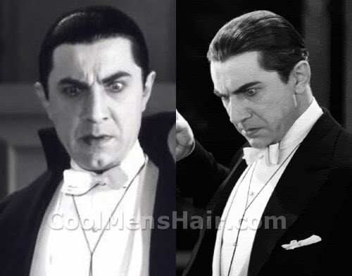 Picture of Bela Lugosi dracula hairstyle for men.