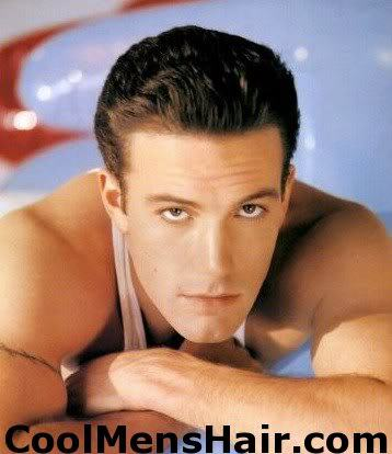Photo of Ben Affleck pompadour hairstyle.