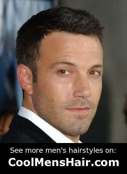 Photo of Ben Affleck short hairstyle for male.