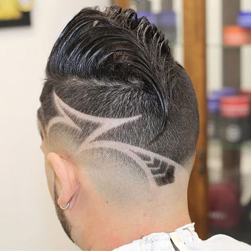 8c03ae7ef This could be considered the best of the best hair designs for me. A  ducktail, a fade and designed lines and patterns all these things have been  used ...