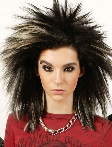 Image of Bill Kaulitz hairstyle.