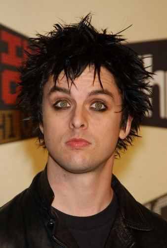 Cool punk hairstyle from Billie Joe Armstrong.