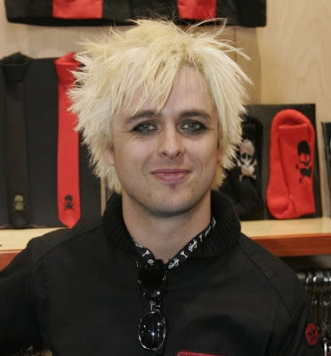 Billie Joe's blond hairstyle